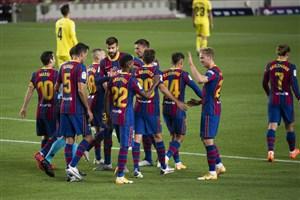بارسلونا 4 - 0 ویارئال؛ خط و نشان کومان برای لالیگا