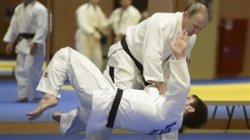 تمرینات حرفه ای ولادیمیر پوتین با تیم ملی جودوی روسیه