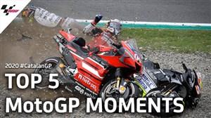 5 حرکت برتر و تماشایی Moto Gp در کاتالان