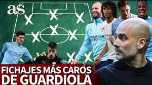 تیم منتخب گران ترین بازیکنان جذب شده توسط گورادیولا