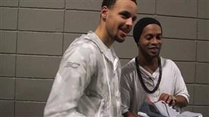 خاطره انگیز; دیدار رونالدینیو با ستارگان بزرگ NBA