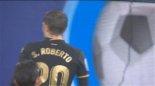گل سوم بارسلونا به سلتاویگو توسط سرجی روبرتو