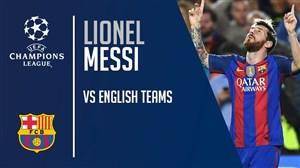 گلهای لیونل مسی برابر تیم های انگلیسی
