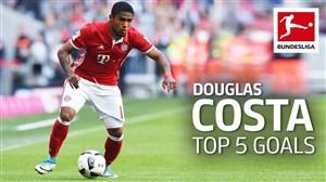 5 گل برتر داگلاس کاستا در بوندسلیگا