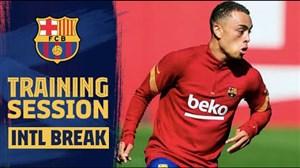 اولین حضور دست در تمرینات بارسلونا