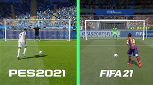 مقایسه پنالتی در بازیهای PES 21 و فیفا 21