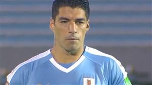 گل اول اروگوئه به شیلی توسط سوارز (پنالتی)