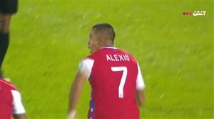 گل اول شیلی به اروگوئه توسط الکسیس سانچز
