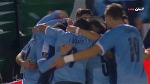 گل پیروزی بخش اروگوئه به شیلی در دقیقه 94