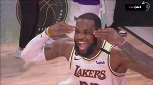 جشن قهرمانی لس آنجلس لیکرز در بسکتبال NBA فصل 20-2019