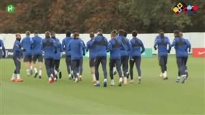 تمرینات تیم ملی انگلیس پیش از دیدار مقابل دانمارک