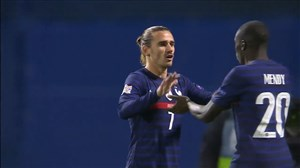 گل اول فرانسه به کرواسی توسط گریزمان