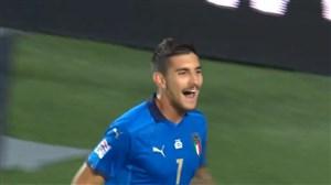 گل اول ایتالیا به هلند توسط پلگرینی