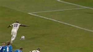 گل دوم بلژیک به ایسلند (لوکاکو - پنالتی)