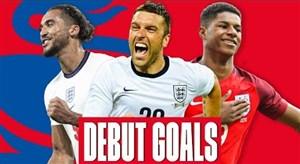 اولین گل ستارگان انگلیسی برای تیم ملی