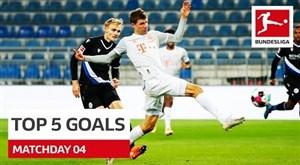 پنج گل برتر بوندسلیگا در هفته چهارم 21-2020