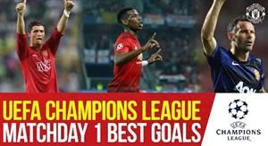 بهترین گل های منچستریونایتد در لیگ قهرمانان اروپا