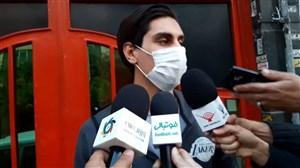 محمد نادری دقایقی پیش وارد باشگاه پرسپولیس شد