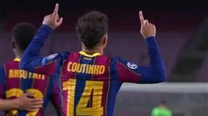 گل سوم بارسلونا به فرنس واروش توسط کوتینیو