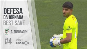 سیو عابدزاده بهترین سیو هفته چهارم لیگ پرتغال