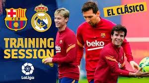 تمرینات بارسلونا پیش از ال کلاسیکو