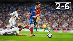 خاطره انگیز; برد پرگل بارسلونا در برابر رئال مادرید در سال 2009