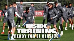 آخرین تمرین رئال مادرید قبل از دیدار حساس ال کلاسیکو