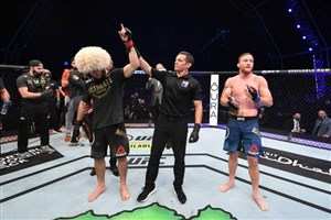 آخرین مبارزه حبیب نورماگمدوف با پیروزی مقابل گیجی