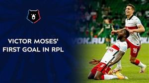 اولین گل ویکتور موزز در لیگ روسیه
