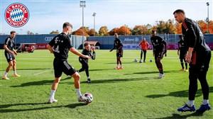 تمرینات آماده سازی بازیکنان بایرن مونیخ