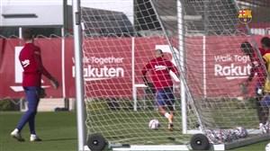 تمرینات بارسلونا برای دیدار برابر یوونتوس