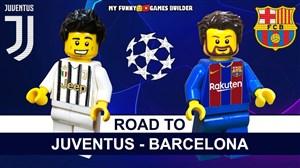 شبیه سازی بازی بارسلونا - یوونتوس در فینال لیگ قهرمانان 2015 با لگو