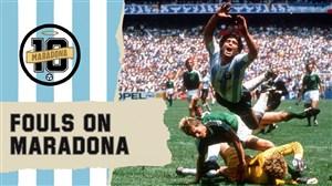 خطاهای دیوانه وار بر روی دیگو مارادونا در تاریخ جام جهانی