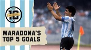 5 گل برتر دیگو مارادونا در تاریخ جام جهانی