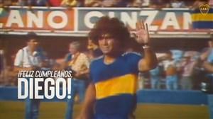 لحظات به یادماندنی مارادونا در بوکاجونیورز