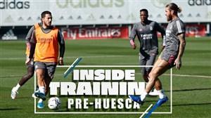 تمرینات آماده سازی بازیکنان رئال مادرید