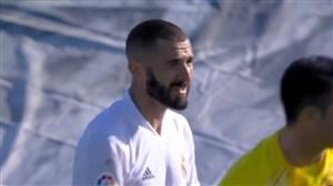 گل دوم رئال مادرید به اوئسکا توسط بنزما