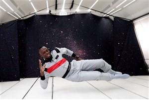 بولت سریعترین انسان است؛ حتی در فضا