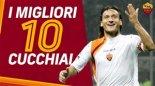10 گل برتر توتی با ضربات چیپ در آ اس رم