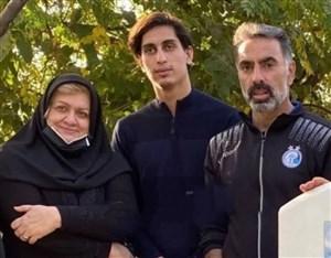 آرزوی موفقیت همسر مرحوم پورحیدری برای محمد نادری