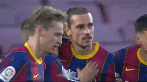 گل دوم بارسلونا به بتیس توسط گریزمان
