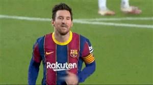 گل سوم بارسلونا به بتیس (مسی - پنالتی)