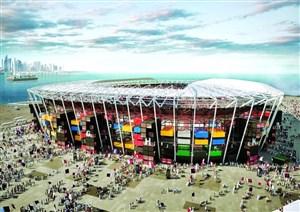 ساخت عجیب ترین ورزشگاه جهان در قطر