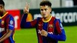 گل سوم بارسلونا به اوساسونا توسط کوتینیو