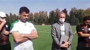 ادای احترام به زنده یاد محمود یاوری در تمرینات امروز ذوب آهن