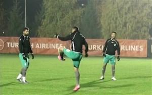 اولین تمرین تیم ملی ایران در بوسنی