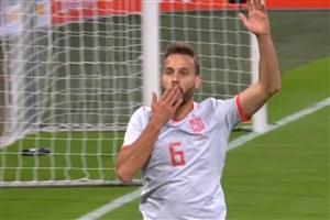 گل اول اسپانیا به هلند ( سرجیو کانالس )