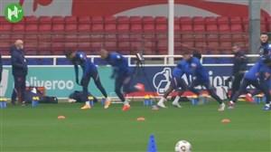 تمرین تیم ملی انگلیس پس از دیدار دوستانه مقابل ایرلند