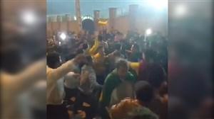 خوشحالی هواداران صنعت نفت بعد از پیروزی مقابل پیکان