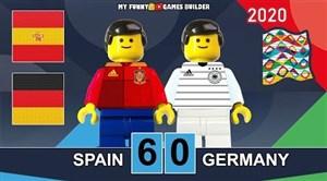 شبیه سازی دیدار اسپانیا - آلمان با عروسک لگو